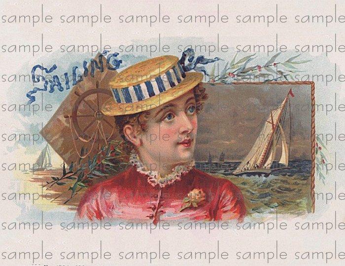 Sailing Cigar Box Art Ephemera Scrapbooking Altered Art Decoupage