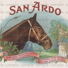 San Ardo Cigar Box Art Ephemera Scrapbooking Altered Art Decoupage