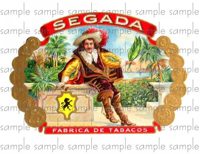 Segada Cigar Box Art Ephemera Scrapbooking Altered Art Decoupage