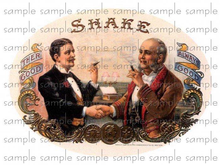 Shake Vintage Digital Cigar Box Art Ephemera Scrapbooking Altered Art Decoupage