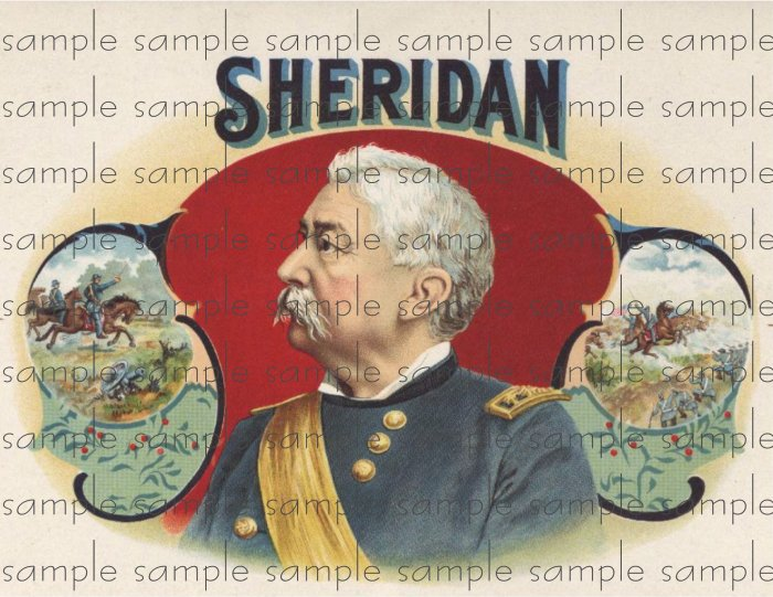 Sheridan Vintage Digital Cigar Box Art Ephemera Scrapbooking Altered Art Decoupage