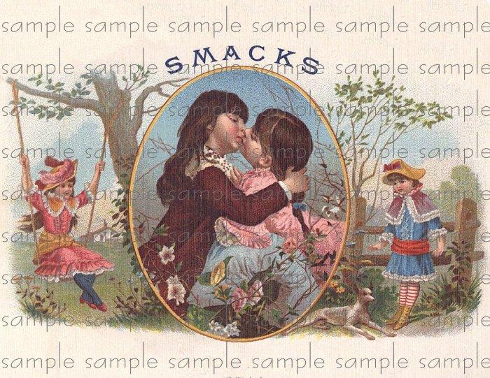 Smacks Vintage Digital Cigar Box Art Ephemera Scrapbooking Altered Art Decoupage