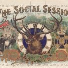 Social Session Vintage Digital Cigar Box Art Ephemera Scrapbooking Altered Art Decoupage