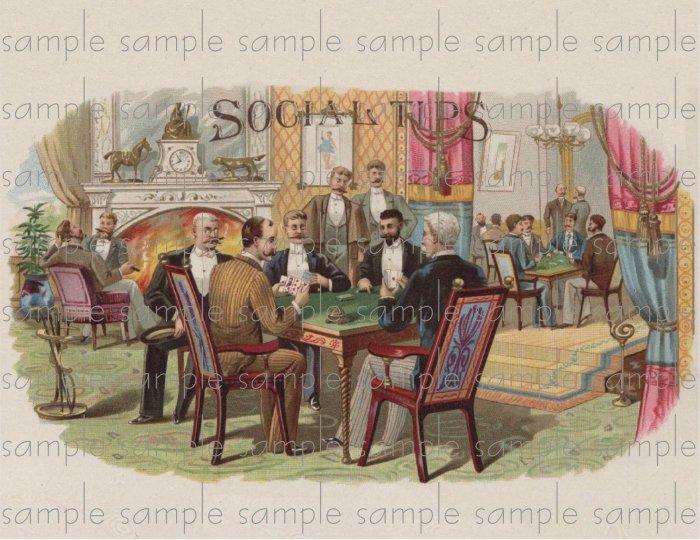 Social Tips Vintage Digital Cigar Box Art Ephemera Scrapbooking Altered Art Decoupage