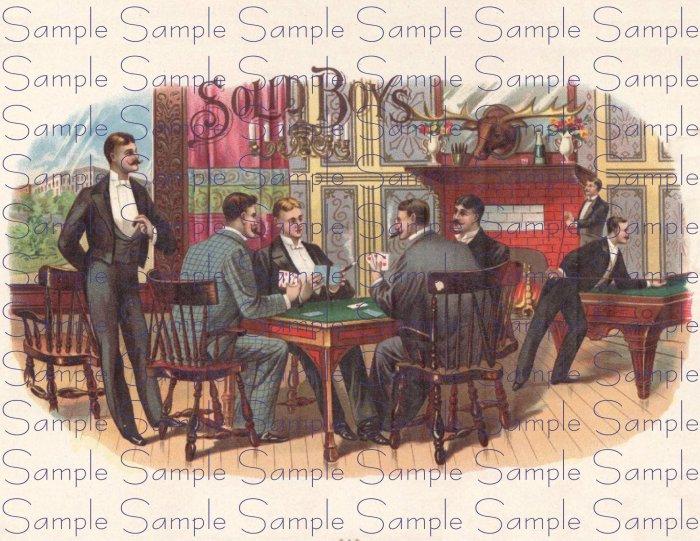 Solid Boys Vintage Digital Cigar Box Art Ephemera Scrapbooking Altered Art Decoupage