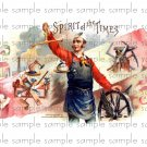 Spirit of the Times 2 Vintage Digital Cigar Box Art Ephemera Scrapbooking Altered Art Decoupage