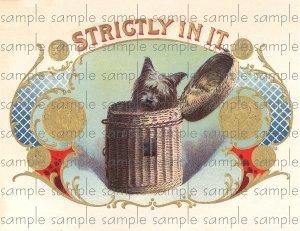 Strictly In It Vintage Digital Cigar Box Art Ephemera Scrapbooking Altered Art Decoupage