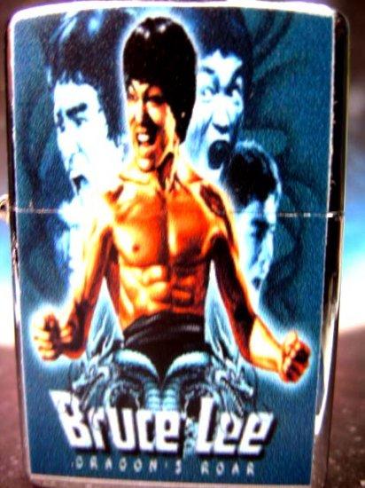 Bruce Lee Kung Fu Dragon Roar Metal Refillable Lighter