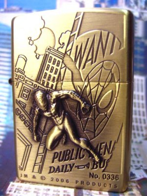 Super Hero Spiderman Flying Building Refillable Lighter