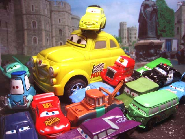 15 Disney Pixar The Cars McQueen,Sally,Luigi, Mater, Ramone,Sheriff  Figure Ref#Y001