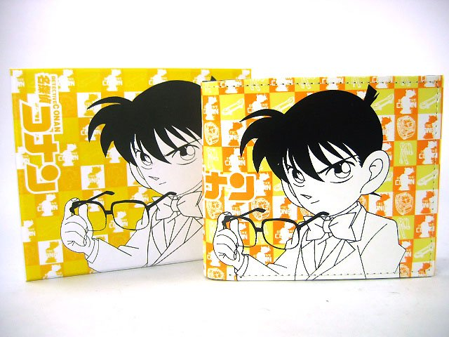 Japan Anime Detective Conan Shinichi Yellow Wallet Ref#DCW002