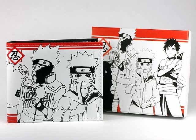 Japan Anime Naruto Kakashi Gaara Wallet  Ref#NW