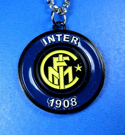 Inter Milanl Football FC Club Sports Colorful Necklace Pendant Free Chain