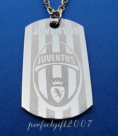 Stainless Steel Juventus FC Dog Tag Necklace Pendant