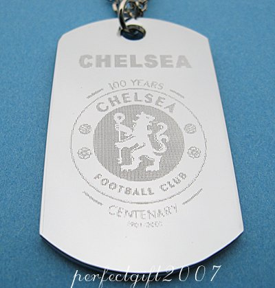 Stainless Steel Chelsea Dog Tag Necklace Pendant