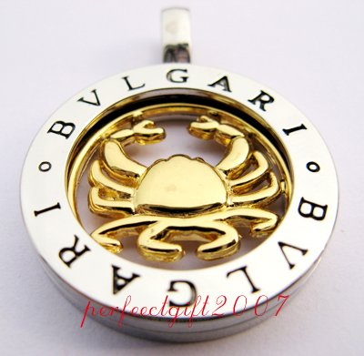 Cancer Horoscope Zodiac Steel Necklace Pendant