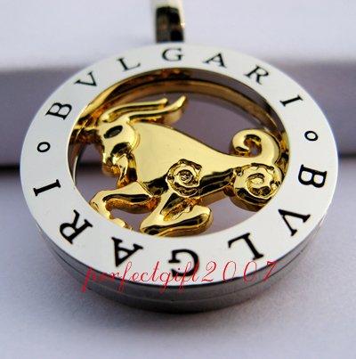 Capricorn Horoscope Zodiac Steel Necklace Pendant
