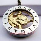 Leo Horoscope Zodiac Steel Necklace Pendant