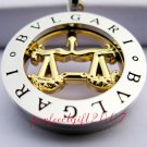 Libra Horoscope Zodiac Steel Necklace Pendant