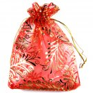 25 Christmas Jewelry Gift Bag Pouch Organza 3.9 x 5.5