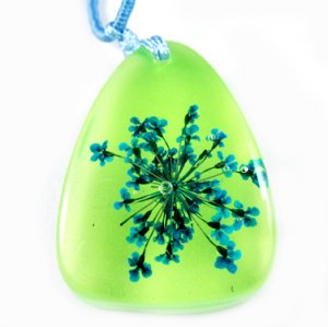 Amber Real Charm Flower Necklace Pendant NO.9