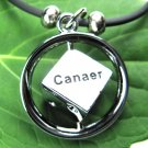 Stainless Steel Horoscope Zodiac Rhombus Pendant Cancer