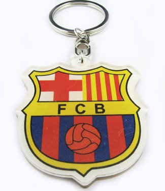 Barcelona Football FC Sports Key Chain Keyring New
