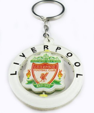 Liverpool Football FC Rotatable Acrylic Key Chain Ring
