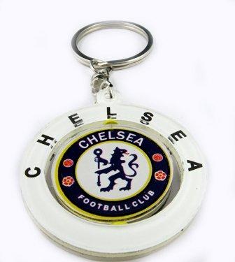 Chelsea Football FC Club Rotatable Acrylic Key Chain Keyring