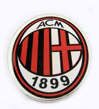 AC Milan Football FC Acrylic Brooch Pin Badge Brand New