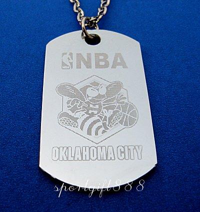 Stainless Steel NBA Club Dog Tag Oklahoma City Thunder