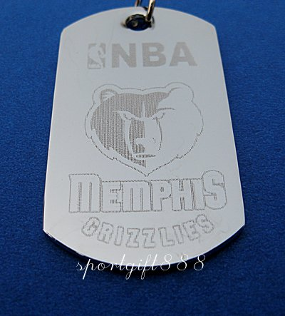 Stainless Steel NBA Dog Tag Necklace Memphis Grizzlies