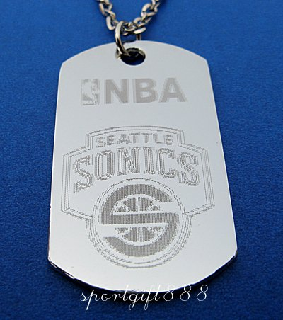 Stainless Steel NBA Dog Tag Necklace Seattle Supersonic