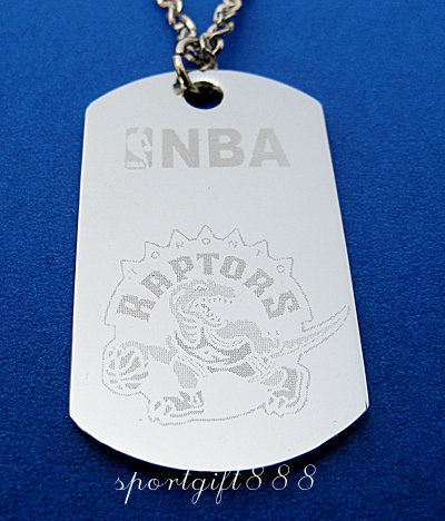 Stainless Steel NBA Dog Tag Necklace Toronto Raptors