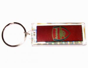 Arsenal FC Club solar powered key chain keyring-LCD