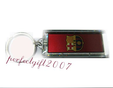 Barcelona  FC Club solar powered key chain keyring-LCD
