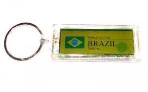 Brazil FC Club solar powered key chain keyring-LCD