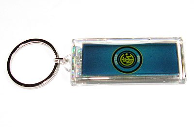 Inter Milan FC Club solar powered key chain keyring-LCD