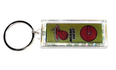 Miami Heat NBA solar powered key chain keyring-LCD