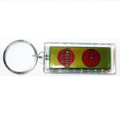 Pistons NBA solar powered key chain keyring-LCD
