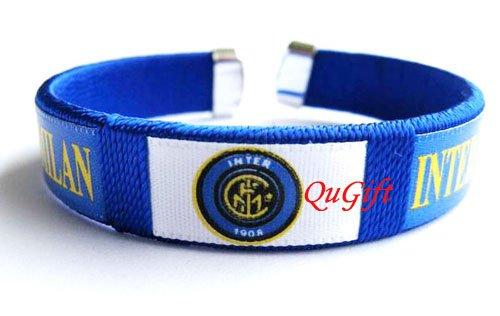 Inter Milan FC Club Football Sport Colorful Adjustable Bangle Bracelet Wristband #2