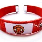 Manchester United FC Club Football Sport Colorful Adjustable Bangle Bracelet Wristband #2