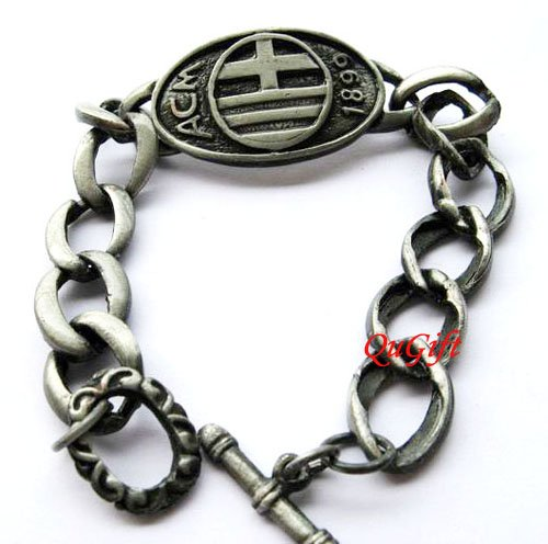AC Milan FC Club Football Sports Bangle Bracelet Metal Wristband