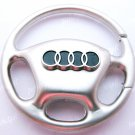 Steering Wheel Car Chrome Keyring Key Chain New Audi