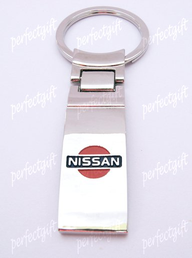 Car Chrome Keyring Key Chain New Nissan