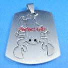 Scorpio Stainless Steel Horoscope Zodiac Pendant Dog Tag 2-Piece