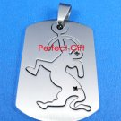 Sagittarius Stainless Steel Horoscope Zodiac Pendant Dog Tag 2-Piece