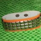 Orange Studded Bracelet one size fits most