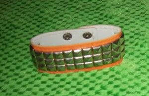 Orange Studded Bracelet one size fits most