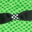 Super cute black and checkerboard bow